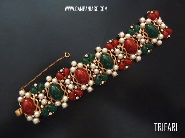 "BB34 - BRACCIALE ""KASHMIR"" TRIFARI ""JEWELS OF INDIA"" - LE COLLEZIONI  DI CAMPANIA30"