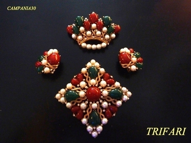 "SB107 - SPILLE TRIFARI ""KASHMIR"" JEWELS OF INDIA - LE COLLEZIONI  DI CAMPANIA30"